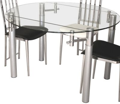 Home Essence Signature Alicia Clear Extending Table - 75-120cm x 76cm
