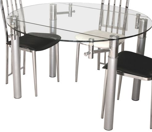Home Essence Signature Alicia Clear Extending Table - 75-120cm x 76cm