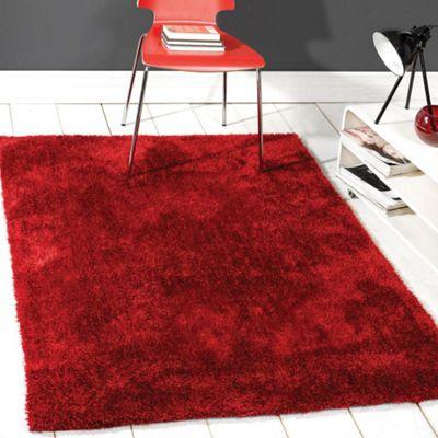 Grande Vista Shaggy Rugs in Red160x230cm