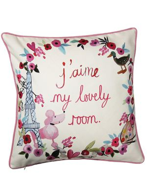 Paris With Love Reversible Cushion