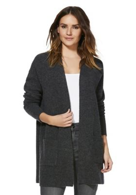 F&F Open Front Long Line Cardigan Grey 6