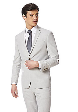 F&F Slim Fit Suit Jacket - Light Grey