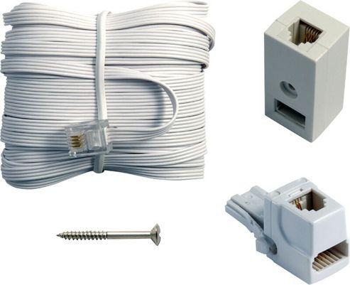 BT Telephone Compact RJ11 Plug Extension Cable Kit 15M