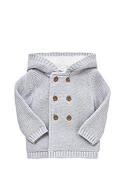 F&F Fleece Lined Double Breasted Cardigan - Grey
