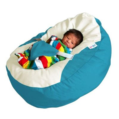 GaGa Teal Cuddlesoft Pre-Filled Baby Bean Bag with Adjustable Safety Harness