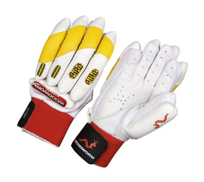 Woodworm Firewall Delta Yellow Batting Gloves - Youths Right Hand