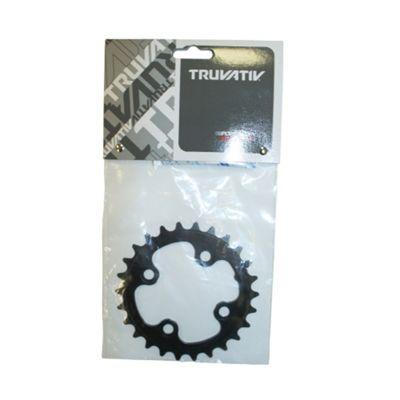 Truvativ Chainring MTB 26t 4 Bolt 64mm BCD Aluminium Blast Black 3mm