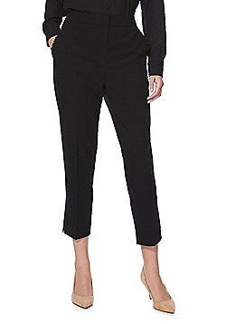 F&F Ruffle Pocket Slim Leg Trousers - Black