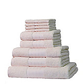 Dreamscene Luxury Egyptian Cotton Towel Bale 9 Piece Set - Cream