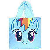 My Little Pony Rainbow Dash Hooded Poncho Towel