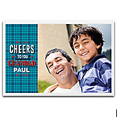 Father's Day Personalised Photo Block - Cheers Grandad
