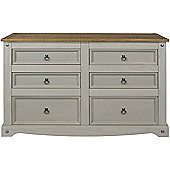 Core Products Corona Grey 3 + 3 Drawer Wide Chest