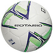 Precision Rotario Match Football - White/Purple/Fluo Lime Size 4
