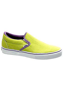 Vans Classic Slip on LX Lime Punch/Hyacinth/White Shoe 48280 - Green
