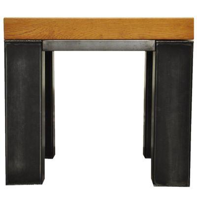 Ultimum Industrial Style Oak Side Table