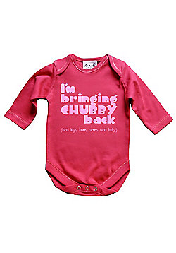 Dirty Fingers I'm bringing Chubby back Baby LS Bodysuit - Fuchsia