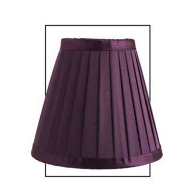 Purple 6 inch Satin Silk Pleated Shade