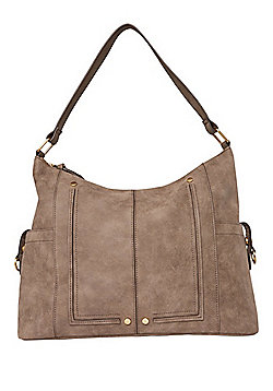 F&F Distressed Hobo Bag Grey One Size