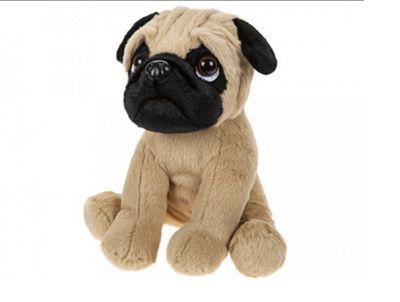 Childrens Pug Soft Plush Animal Toy 20cm