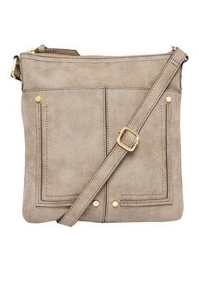 F&F Passport Cross-Body Bag Grey One Size