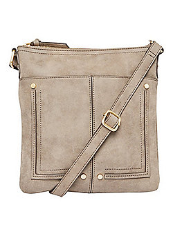 F&F Passport Cross-Body Bag Grey One Size