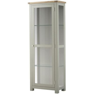Padstow Grey Painted Glass Display Cabinet