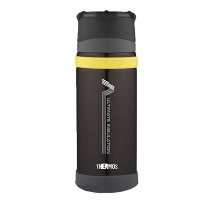 Thermos Ultimate MKII Flask, Vacuum Insulated, Sweatproof, Charcoal, 500 ml