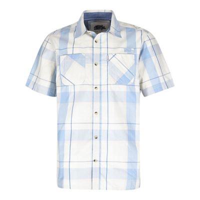 Weird Fish Mens Rewind Short Sleeve Shirt Powder Blue XL