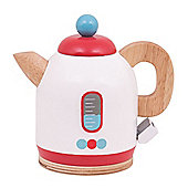 Bigjigs Toys Wooden Kettle - Pretend Play Kitchen and Role Play Toys