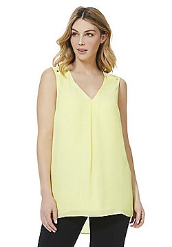 F&F Stud Detail Sleeveless Shell Top - Lemon Yellow