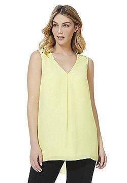 F&F Stud Detail Sleeveless Shell Top - Lemon Yellow