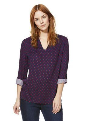 F&F Heart Print Collarless Shirt Multi 6