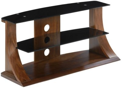 Jual Curve - Curved Walnut and Black 50 inch TV Stand