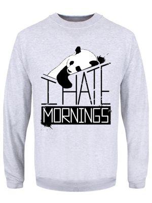I Hate Mornings Grey Men's Sweater