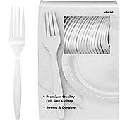 White Plastic forks - 100 Pack
