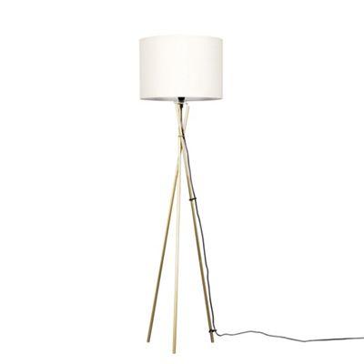 Camden Tripod Floor Lamp - Gold & Cream