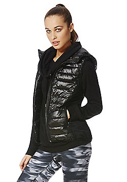 F&F Active Padded Hooded Gilet - Black
