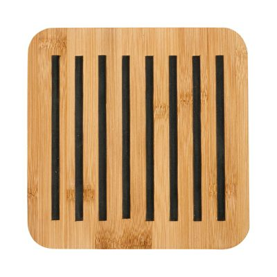 Ladelle Classic Square Bamboo Trivet, Charcoal
