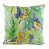Evans Lichfield Summertime Tropical Lovebirds Spring Filled Cushion