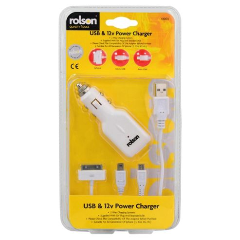 ROLSON USB & 12V POWER CHARGER