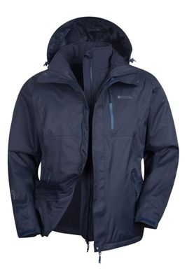 Mountain Warehouse Bracken Extreme 3 in 1 Mens Waterproof Jacket ( Size: XXXL )
