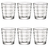 Bormioli Rocco Cube Clear Glass Drinking Tumblers - 240ml - Pack of 6