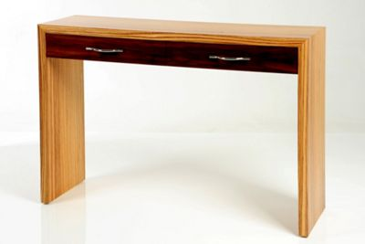 Trefurn Linear Occassional Table - Zebrano and Black Walnut
