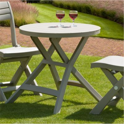 Buy Allibert Oregon Cappuccino Folding Bistro Table From