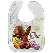 Dirty Fingers, Happy Easter, Show me the Chocolate, Baby Unisex feeding Bib with Subli Print