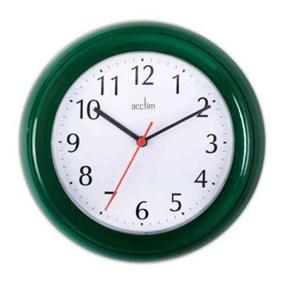 Acctim Wycombe Wall Clock Jade Green