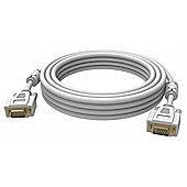 Vision 2x VGA 15-pin D-Sub 5m (D-Sub) White cable