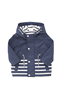F&F Striped Mac - Blue