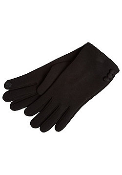 F&F Jersey Touch Screen Gloves - Black