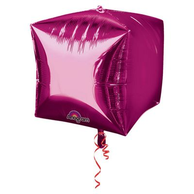 Cubez Bright Pink Cube Shaped Balloon - 24 inch Foil